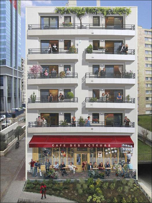 Реалистичное изображение жителей дома.