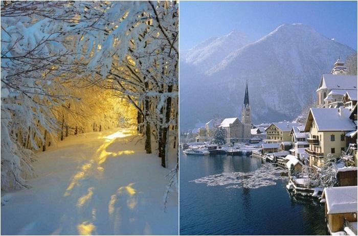 Волшебные зимние пейзажи.