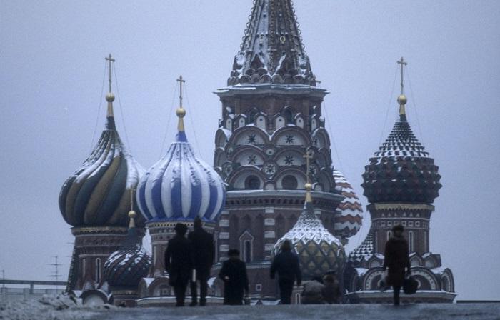 Зимняя Москва в объективе известного фотографа Вальтера Шмитца.