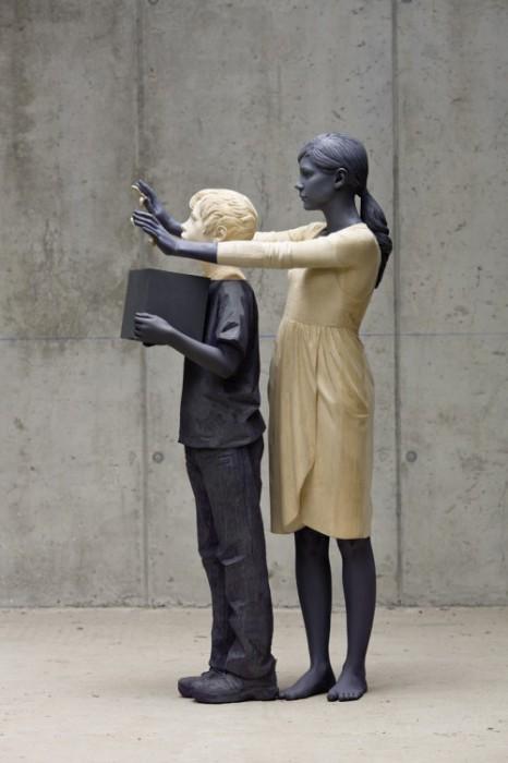 Деревянная скульптура Вилли Вергинера.