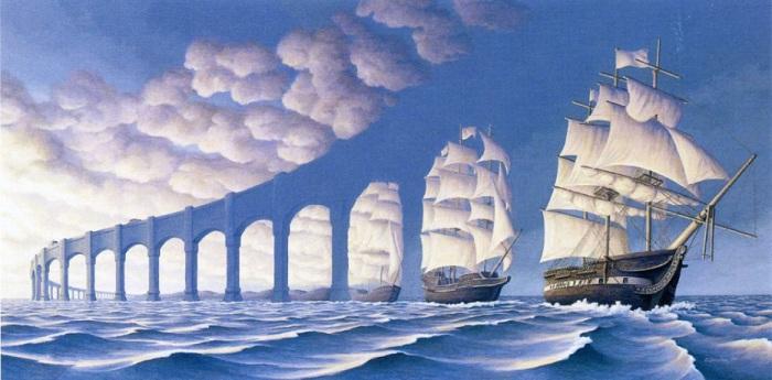 Стиль, в котором рисует всемирно известный художник из Канады Роб Гонсалвес (Rob Gonsalves) называется «магический реализм».