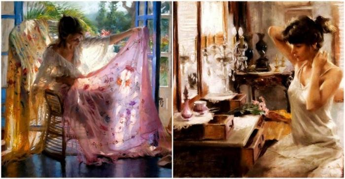При взгляде на картины кажется, будто вот-вот почувствуешь дуновение свежего ветра — как из открытого окна.