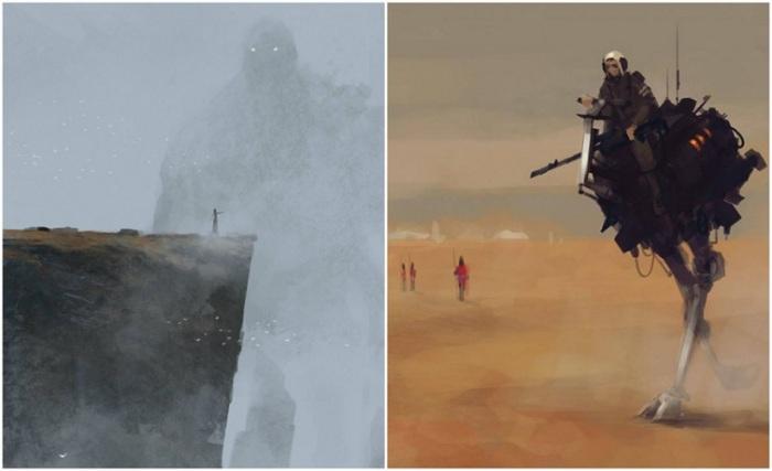 Работы Якуба Розальски - настоящее путешествие в мир, где переплетаются прошлое, будущее и фантазия.