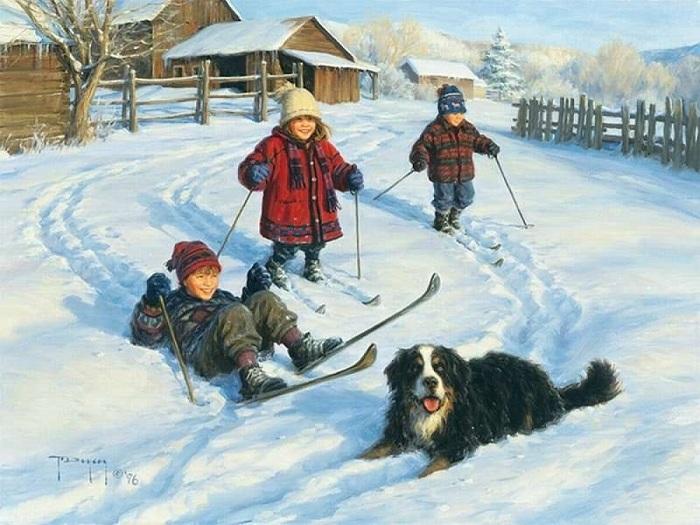 Американский художник Роберт Дункан начал рисовать в 11 лет будучи на каникулах у дедушки с бабушкой в Вайоминге, наблюдая за простым деревенским укладом жизни.