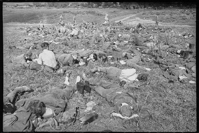 Временный лагерь для немецких военнопленных.