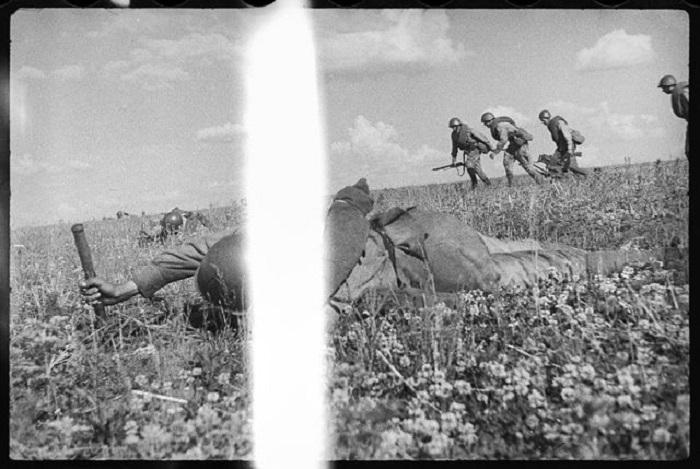 Продвижение советских войск.