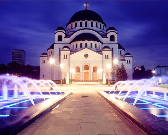 Храм Сербской православной церкви в Белграде высотой 79 метров.