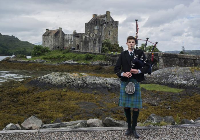 Шотландцы считают волынку своим национальным инструментом. Автор фотографии Массимо Ерколани (Massimo Ercolani).