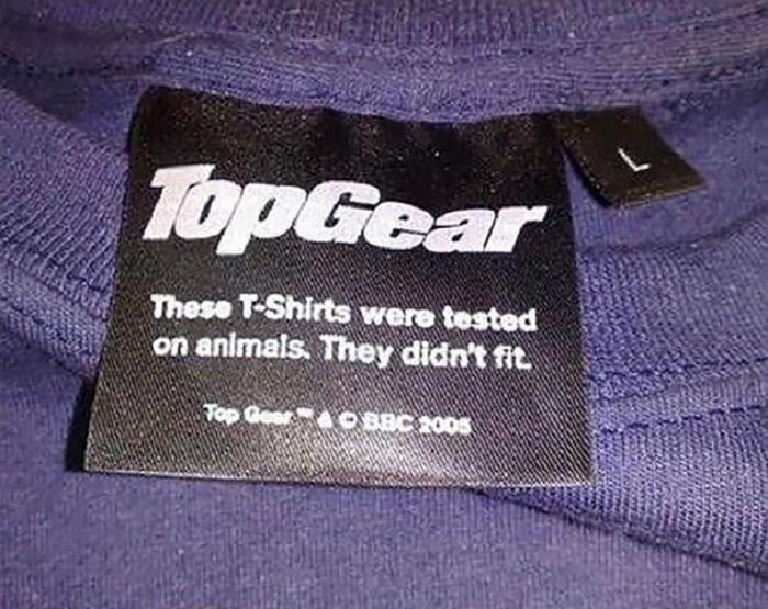 Эти футболки тестировались на животных. Не подошли им по размеру.