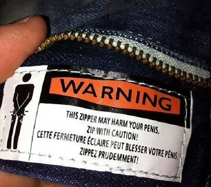 Неожиданные и забавные надписи на ярлыках одежды.