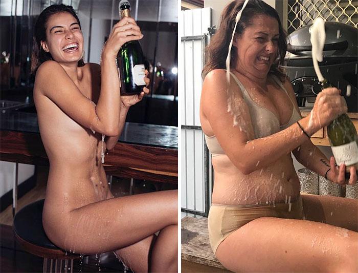 Селесте Барбер считает, что главное при открытии бутылки шампанского – это не получить пробкой в лицо!