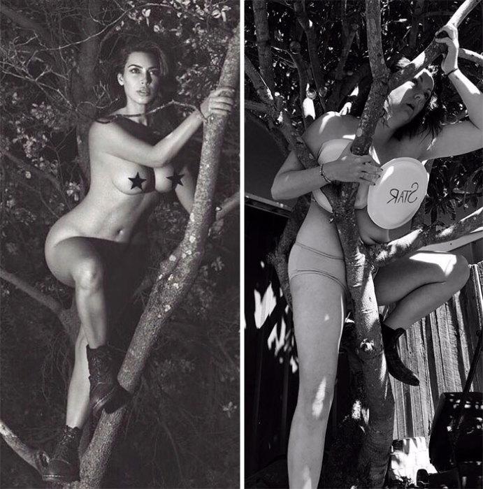 Влезать голышом на дерево оказалось делом утомительным, а местами очень опасным.