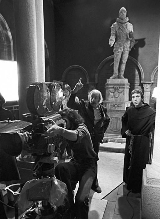 На съёмочной площадке Владимир Высоцкий.