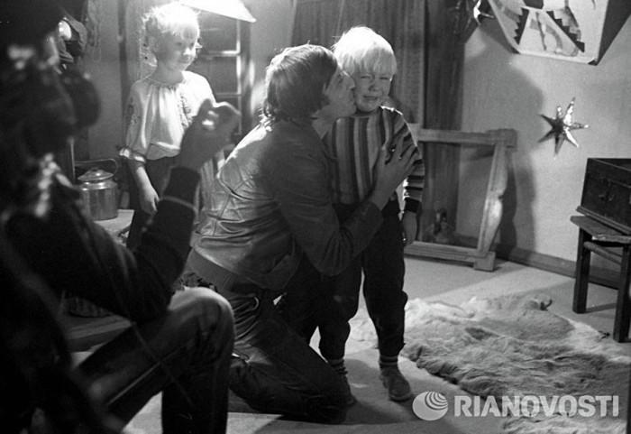 Один из рабочих моментов со съемок детского фильма-мюзикла.