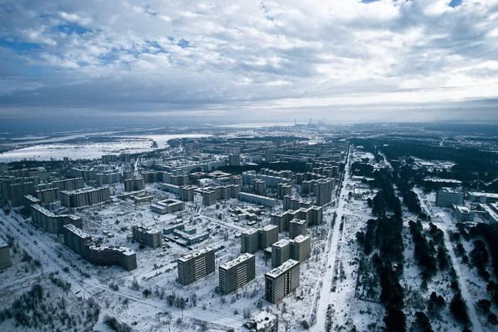 Город-призрак в Киевской области Украины возле Чернобыльской АЭС.