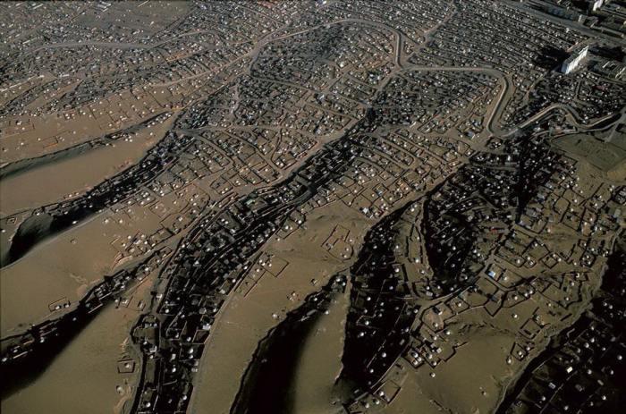 Монгольское поселение, известное как «Район юрт», численность которого стремительно растет с каждым годом.