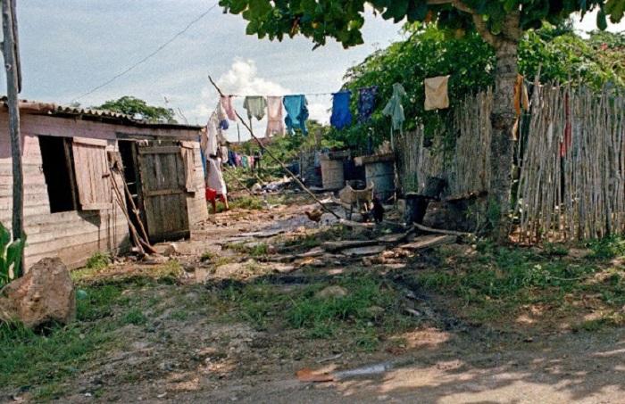 Один из самых бедных районов города.