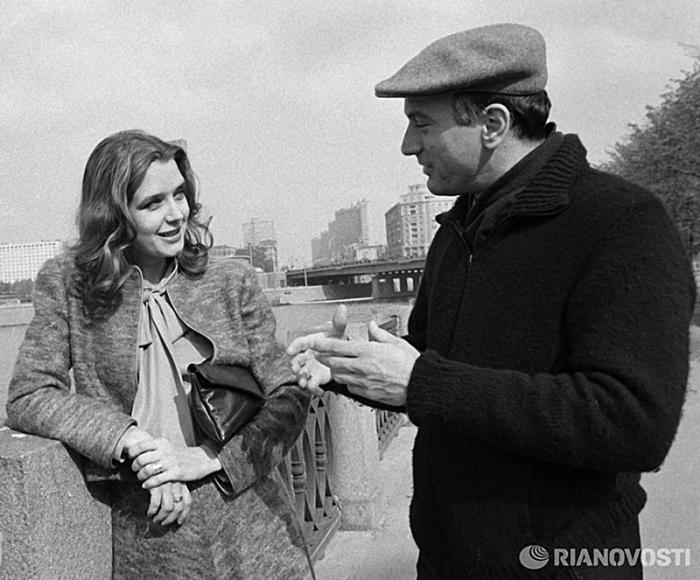 На набережной Москвы–реки, 1983 год.
