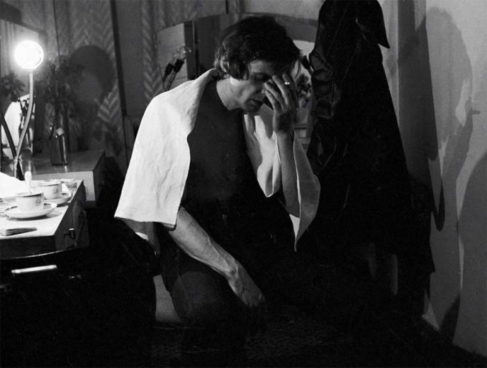 Ведущий актёр театра им. Моссовета после спектакля. 28 октября 1978 года.