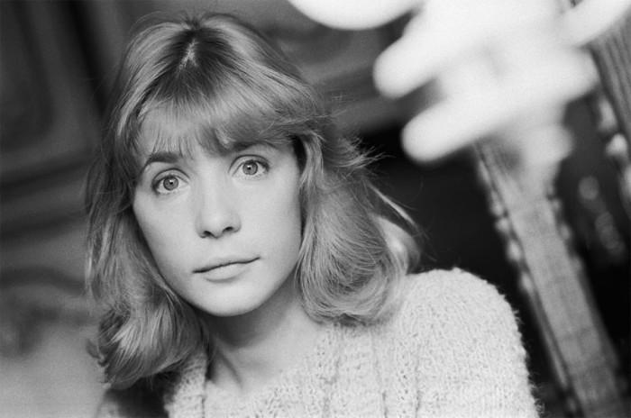Актриса на съемках фильма «Зонтик для новобрачных». 1986 год.