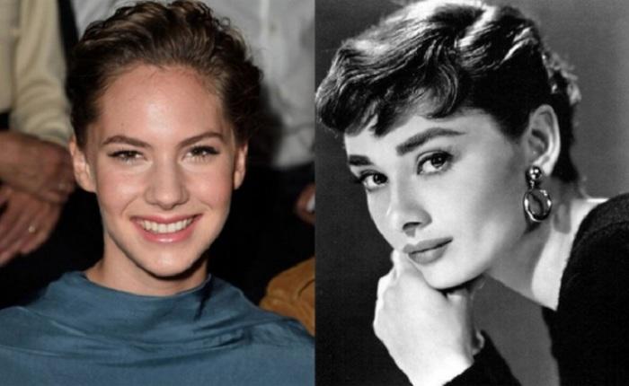 Внучка Одри Хепберн, девушка работает моделью.