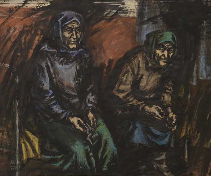 """Доляновский С.М. """"Сестры"""", 1989. Бумага, тушь, пастель"""