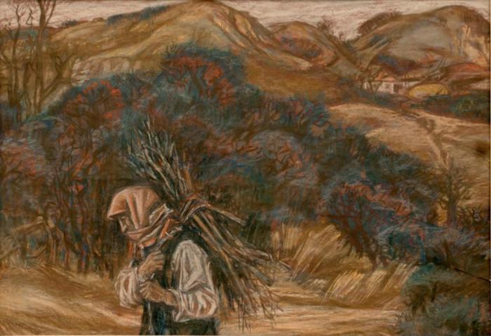 """Доляновский С.М. """"Терновник"""", 1985. Бумага, пастель"""