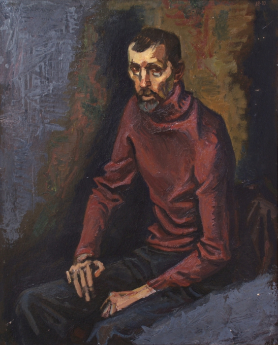 """Доляновский С.М. """"Мужской портрет"""", 1988-90. Холст, масло"""