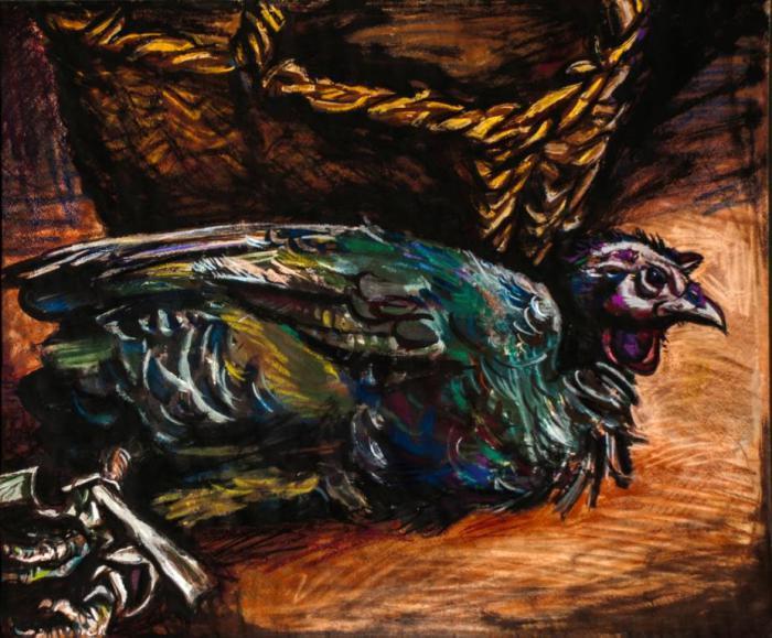 """Доляновский С.М. """"Натюрморт"""", 1989. Бумага, темпера, пастель"""