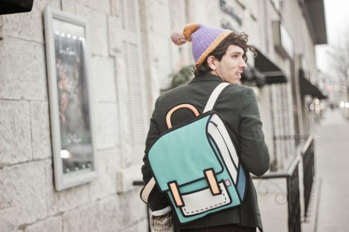 Яркие сумки с плоским изображением.