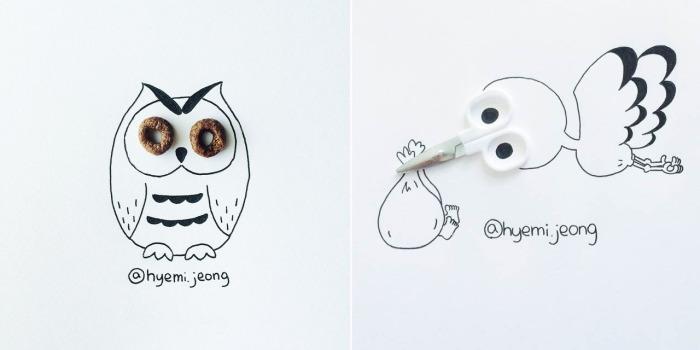 Сюжетные картинки от Hyemi Jeong.