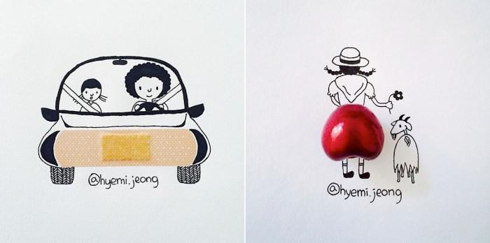 Причудливые иллюстрации корейского художника.