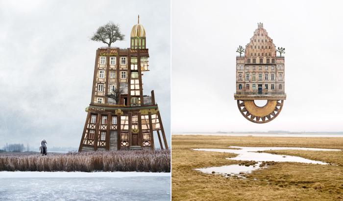 Сюрреалистические дома.