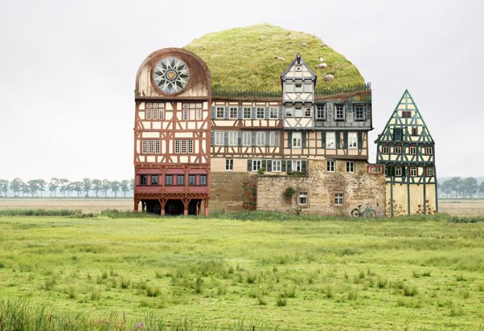 Matthias Jung (Маттиас Юнг) - создатель сюрреалистических домов.