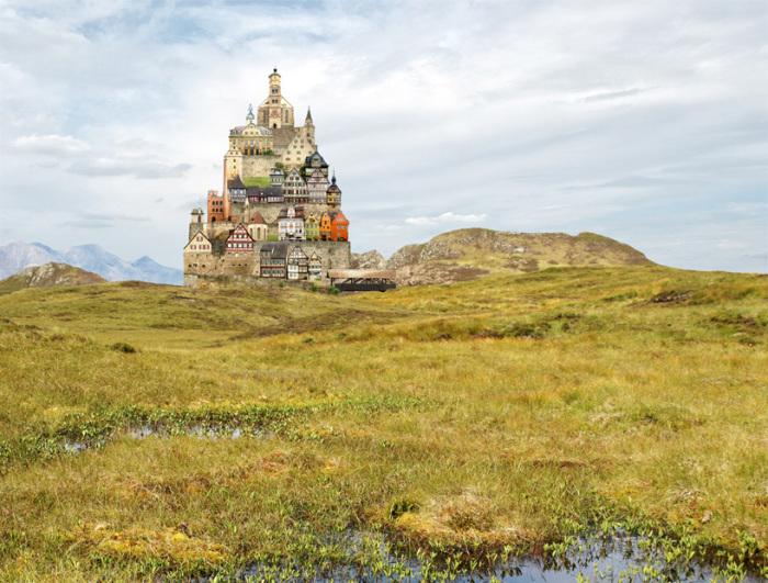 Сюрреалистические дома - часть воображаемого мира автора.