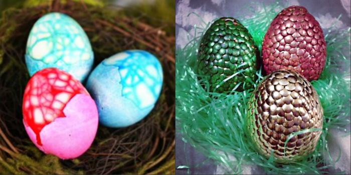 Пасхальные яйца в чешуе