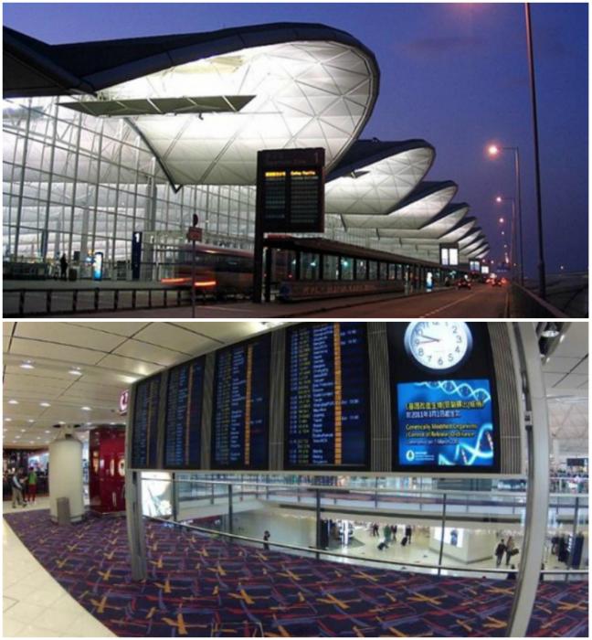 4. Международный аэропорт в Гонконге имеет всего 2 терминала, но несмотря на это качественно обслуживает рекордное количество пассажиров – 52 миллиона.