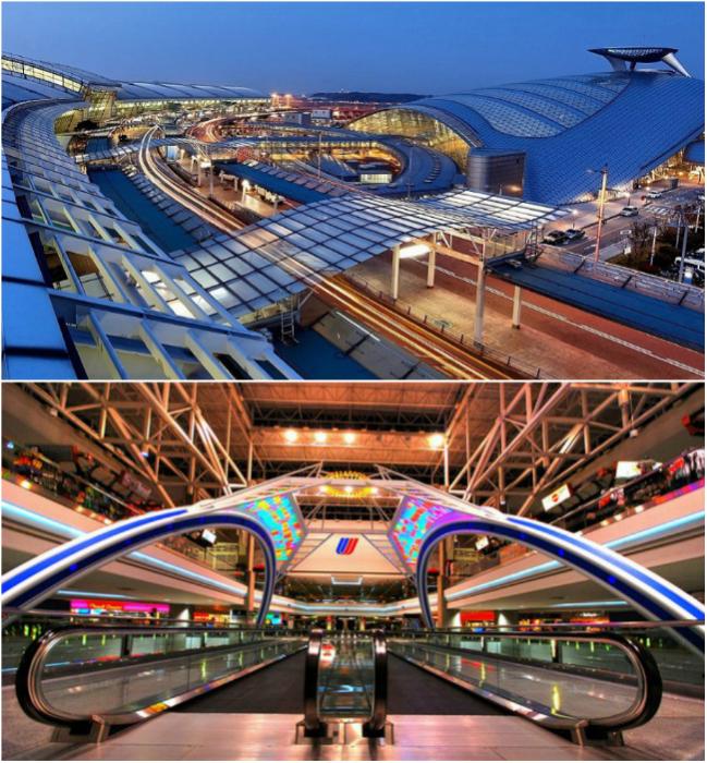 Аэропорт Инчхона предоставляет прекрасные условия для отдыха и ежегодно принимает больше 39 миллионов пассажиров.