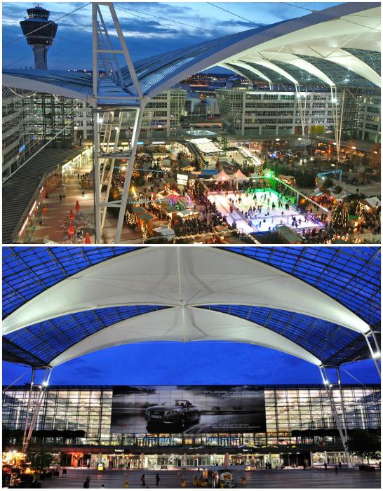 Аэропорт Мюнхена отличается стильным и оригинальным дизайном, ежегодно его посещают 37 миллионов туристов.