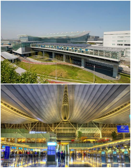 Аэропорт Ханэда, Токио ежегодно принимает 90 миллионов путешественников, отличается высоким уровнем чистоты и безопасности.