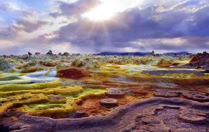 Вулкан Далол, пустыня Данакиль, Эфиопия.