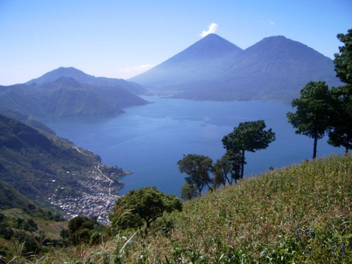 Красивый пейзаж, Гватемала.