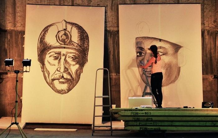 Зарисовки для экспозиции 1040 m underground в Донецке