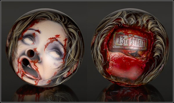 Шары для боулинга - головы зомби