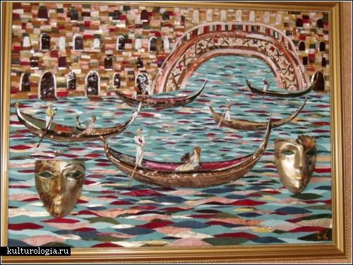 Кожаные картины украинской художницы. Та самая *Венеция*