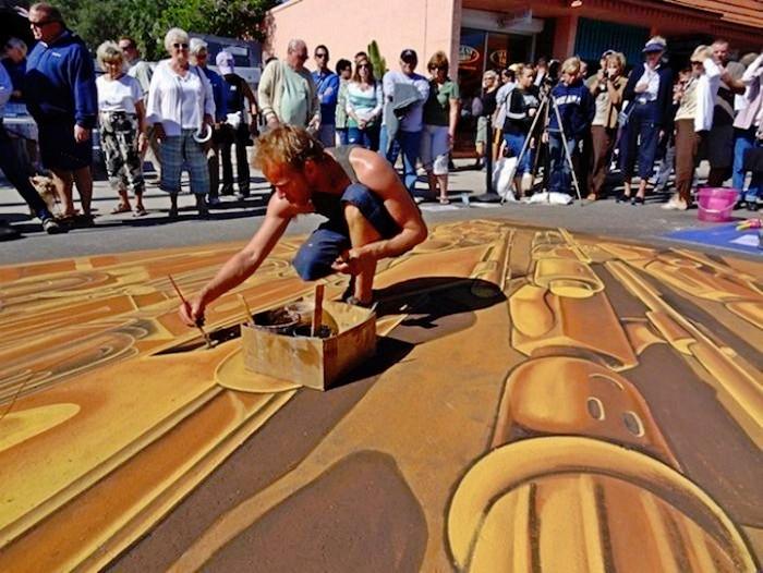 Удивительный трехмерный рисунок Terracotta Lego army на фестивале во Флориде