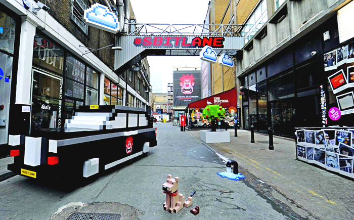 Восьмибитная улица 8 Bit Lane как реклама мультфильма Wreck-It Ralph