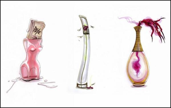 Мода в карикатурах Ашрафа Амири (Achraf Amiri)
