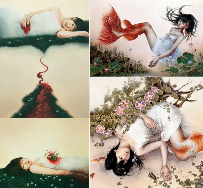 Брутально-милая живопись. Символически ужасные картины Ai Shinohara