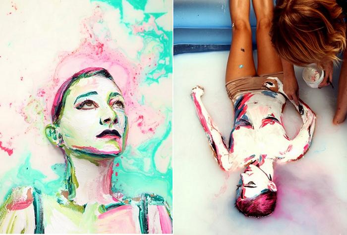 Живопись и купание в молоке. Люди-картины в творчестве Алексы Мид